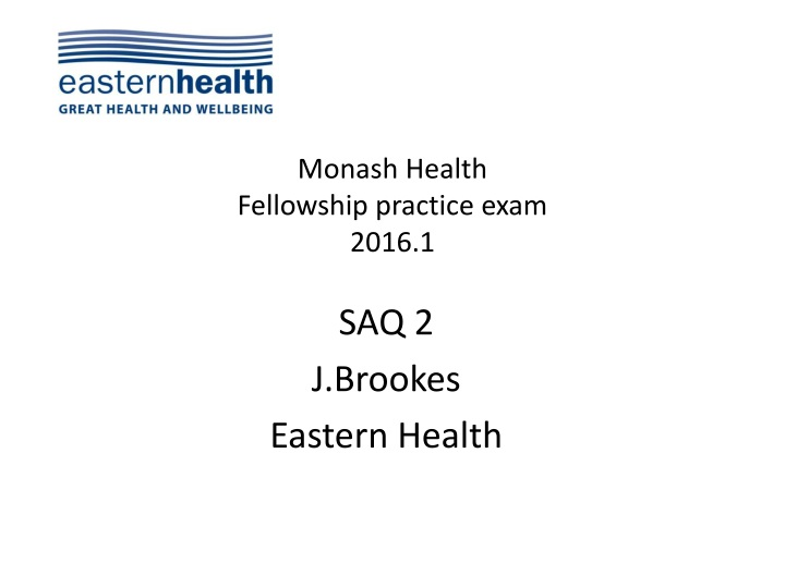 monash health fellowship practice exam 2016 1 n.