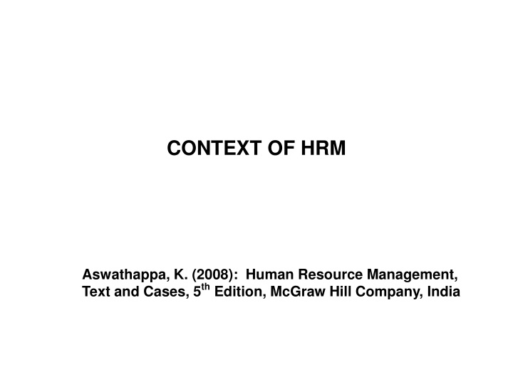 context of hrm n.