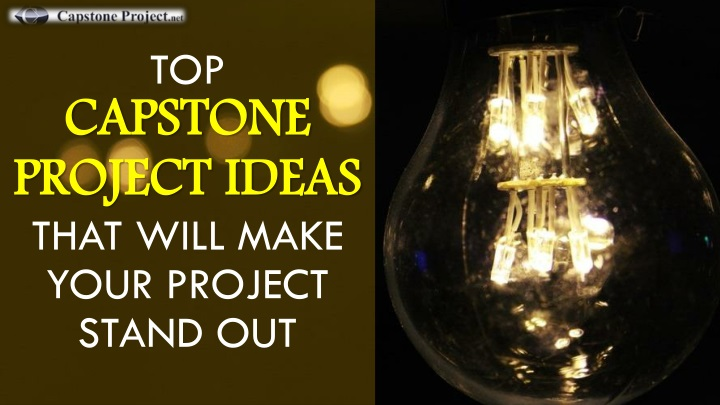 top capstone project ideas that will make your project stand out n.