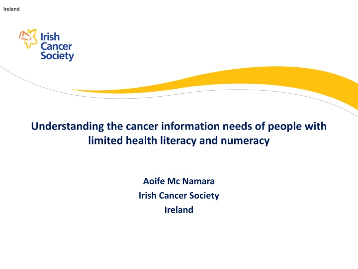 understanding the cancer information needs of people with limited health literacy and numeracy n.