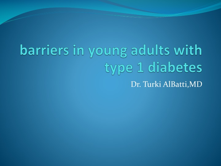 barriers in young adults with type 1 diabetes n.