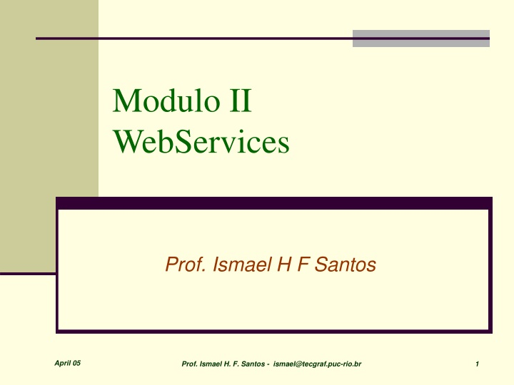 modulo ii webservices n.