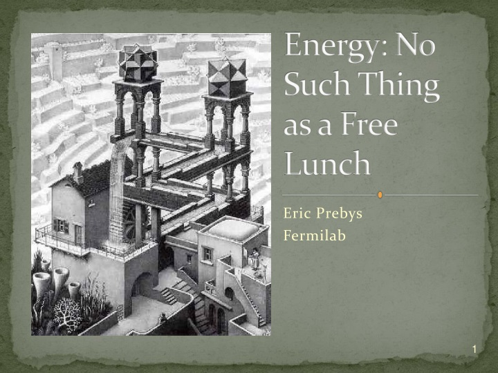 energy no such thing as a free lunch n.