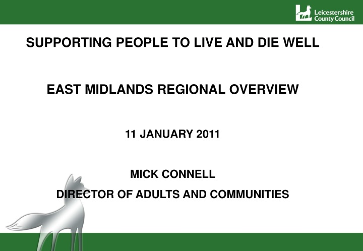 supporting people to live and die well east n.