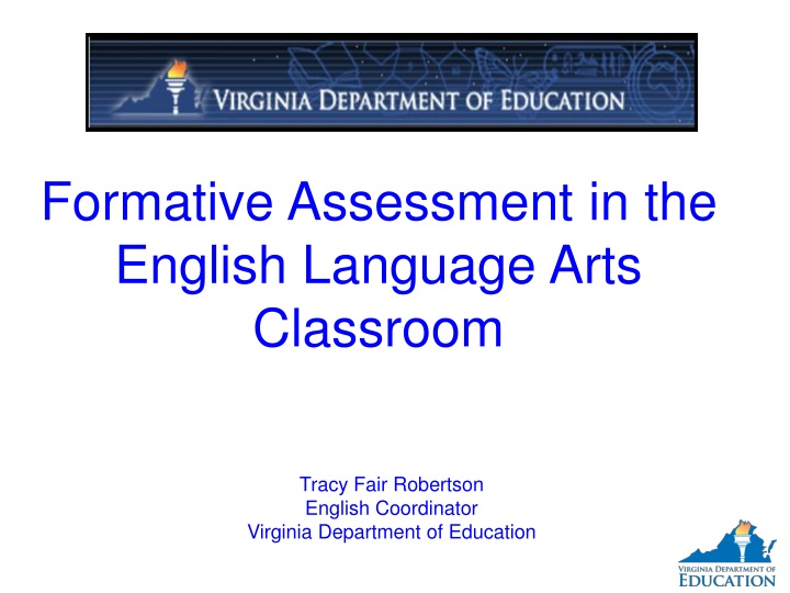 formative assessment in the english language arts n.