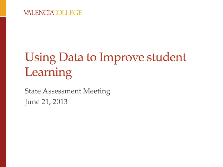 using data to improve student learning n.