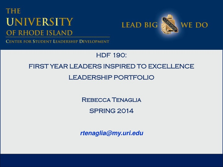 hdf 190 first year leaders inspired to excellence n.