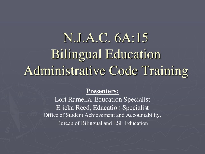 n j a c 6a 15 bilingual education administrative code training n.