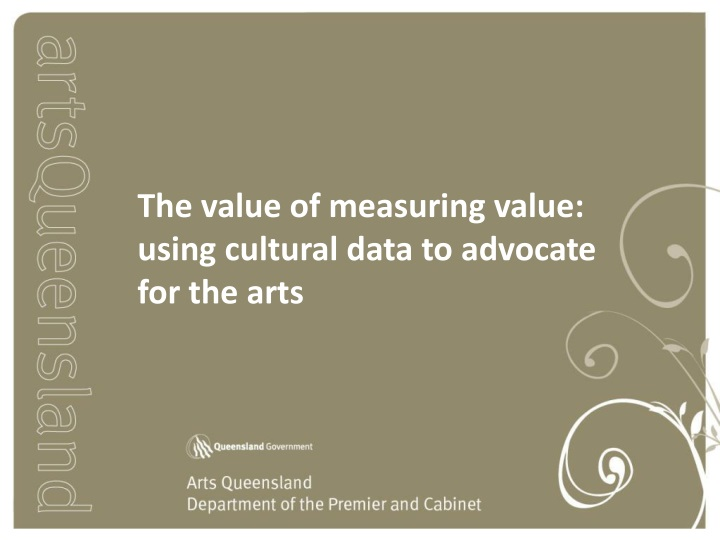 the value of measuring value using cultural data n.