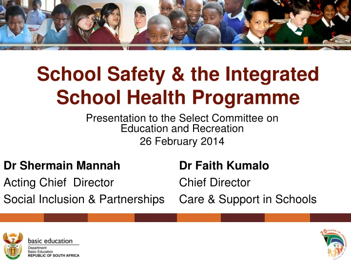 school safety the integrated school health programme n.