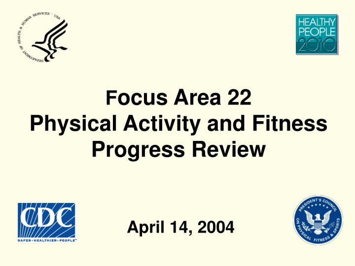 f ocus area 22 physical activity and fitness progress review n.