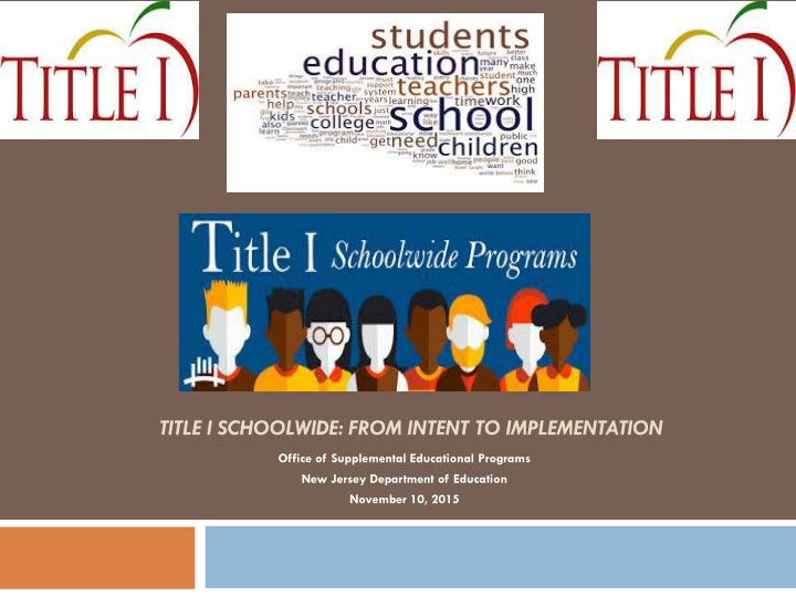 title i schoolwide from intent to implementation n.