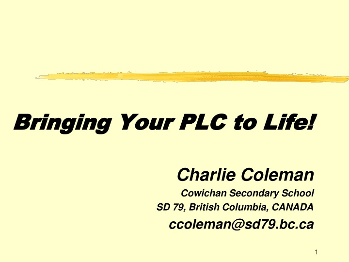 bringing your plc to life n.