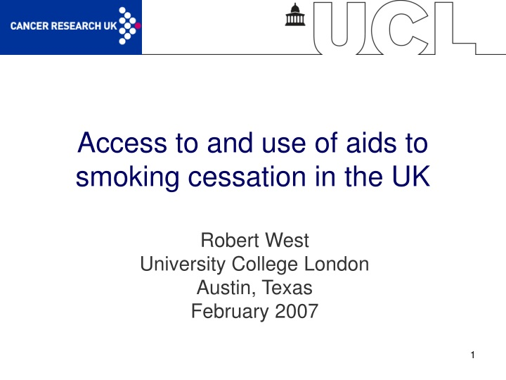 access to and use of aids to smoking cessation in the uk n.