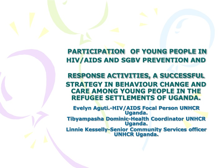 participation of young people in hiv aids n.