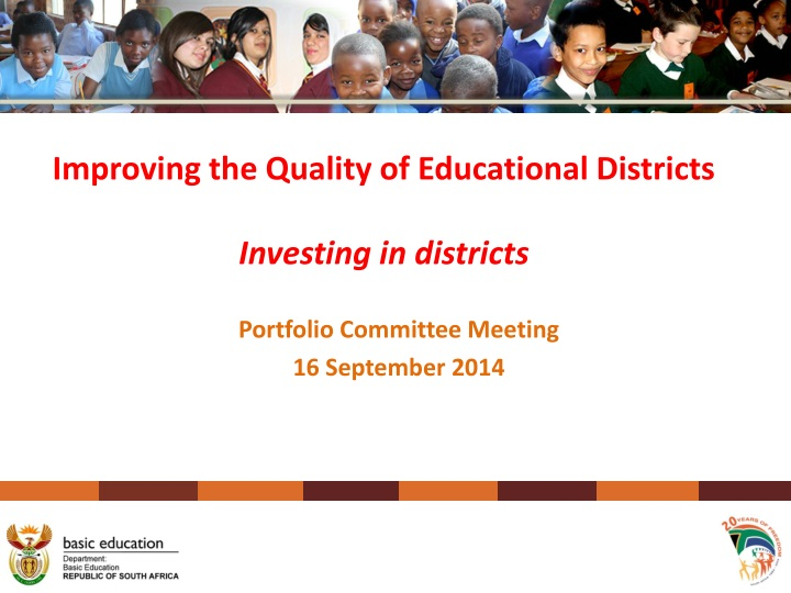 improving the quality of educational districts investing in districts n.