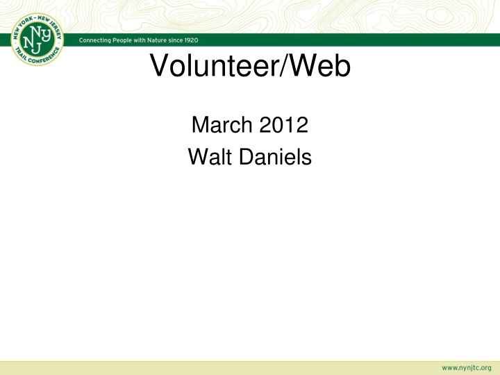 volunteer web n.