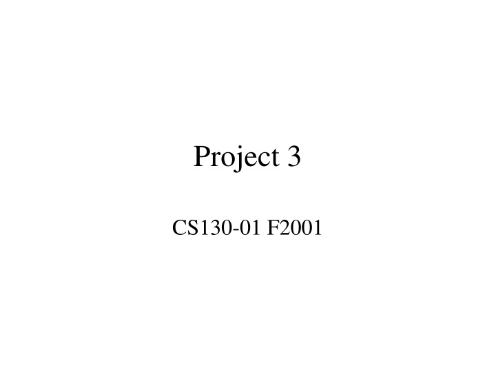 project 3 n.