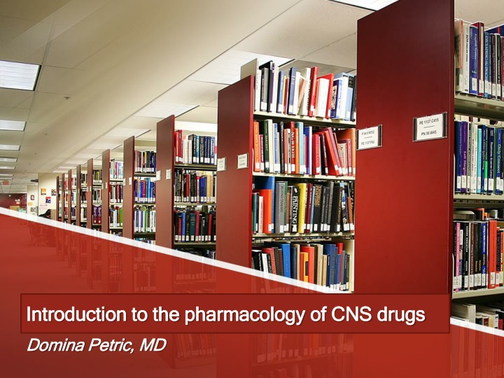 introduction to the pharmacology of cns drugs n.