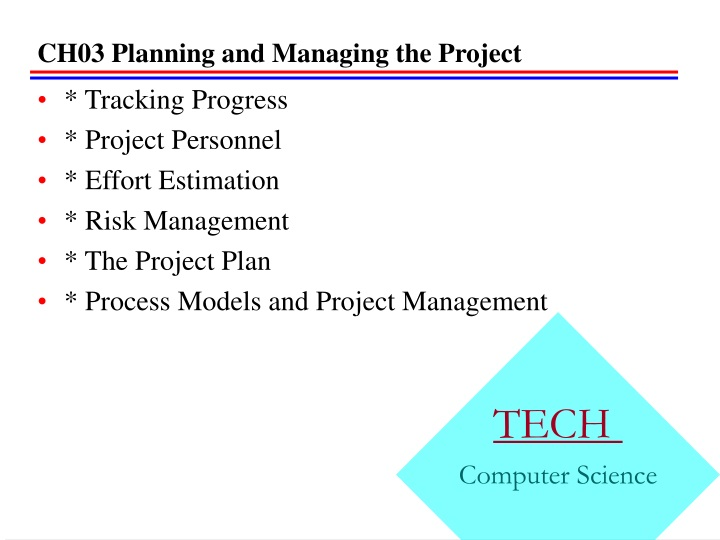 ch03 planning and managing the project n.