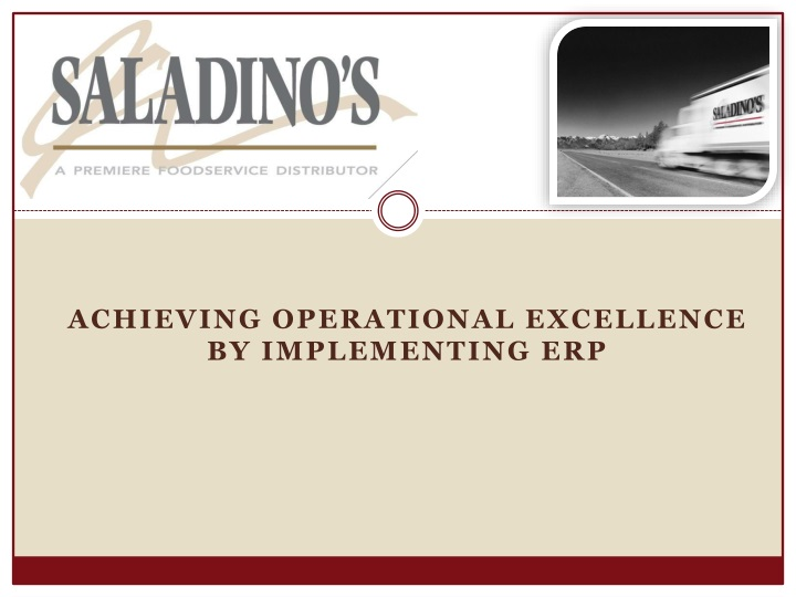 achieving operational excellence by implementing erp n.