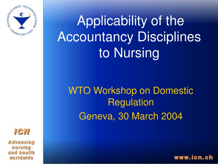applicability of the accountancy disciplines to nursing n.