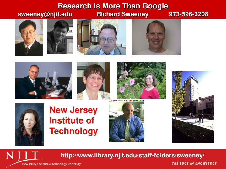 research is more than google sweeney@njit n.