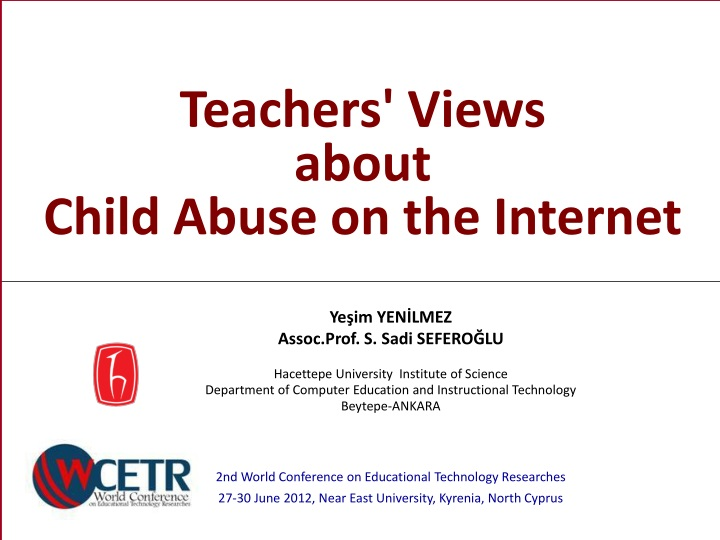 teachers views about child abuse on the internet n.