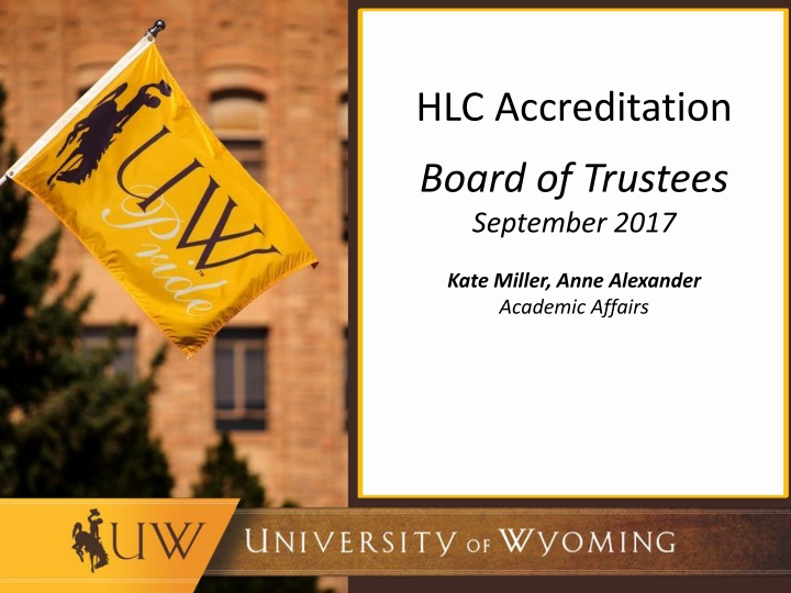 hlc accreditation board of trustees september n.