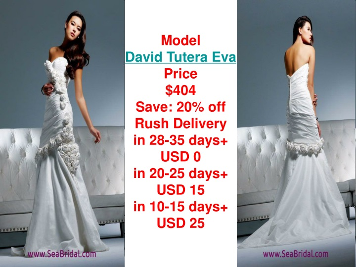 model david tutera eva price 404 save 20 off rush n.