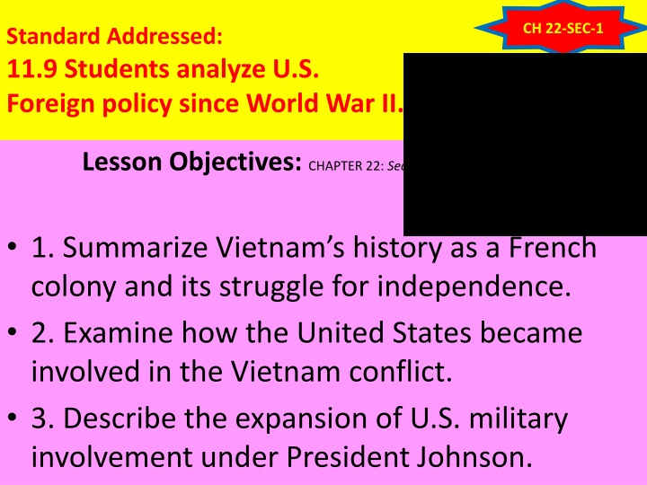 standard addressed 11 9 students analyze u s foreign policy since world war ii n.