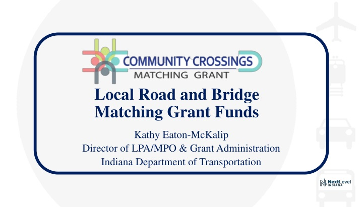 local road and bridge matching grant funds n.