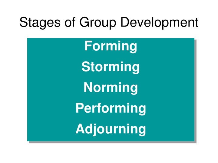 stages of group development n.