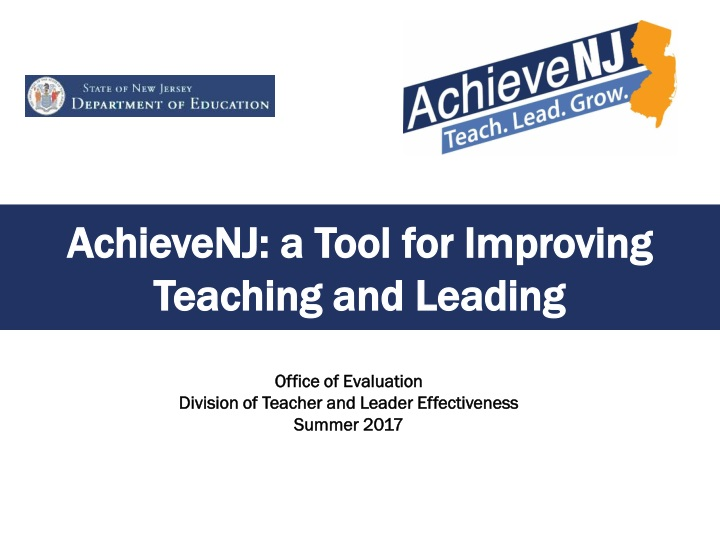 achievenj a tool for improving t eaching and leading n.
