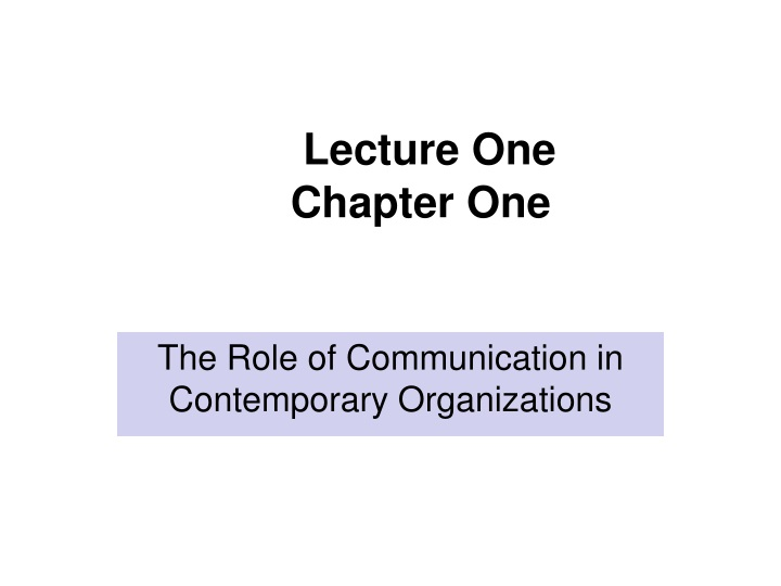 lecture one chapter one n.