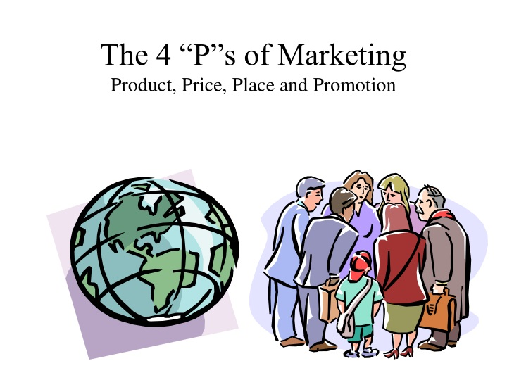 the 4 p s of marketing product price place and promotion n.