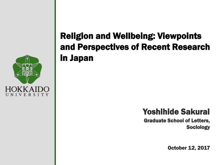 religion and wellbeing viewpoints and perspectives of recent research in japan n.