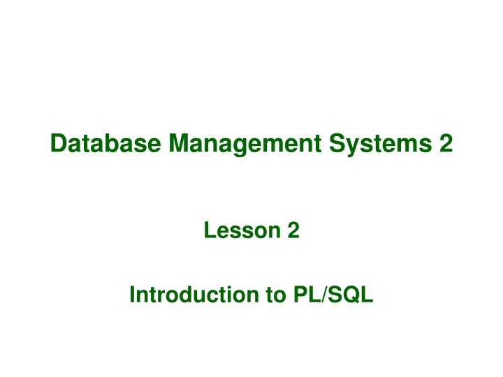 database management systems 2 n.
