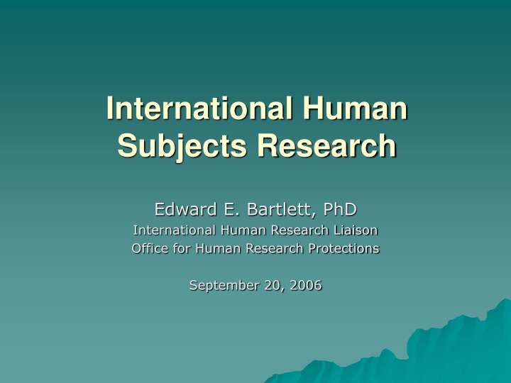 international human subjects research n.