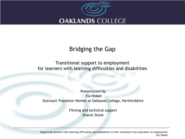 bridging the gap transitional support n.