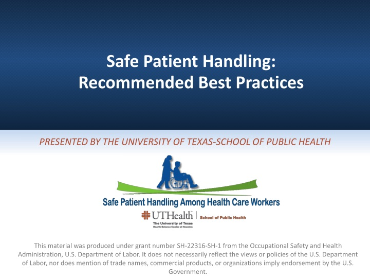 safe patient handling recommended best practices n.