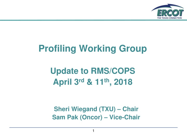 profiling working group update to rms cops april n.