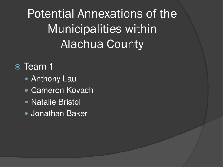 potential annexations of the municipalities within alachua county n.