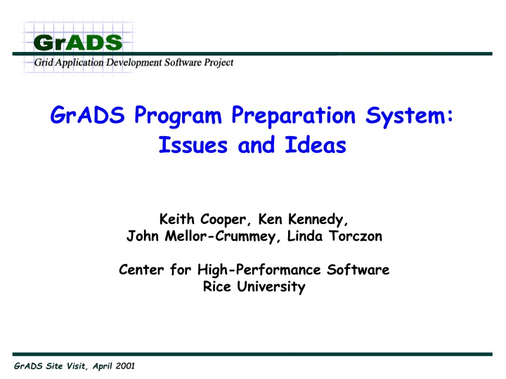 grads program preparation system issues and ideas n.