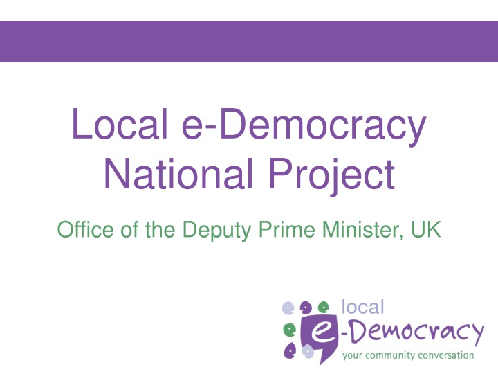 local e democracy national project n.