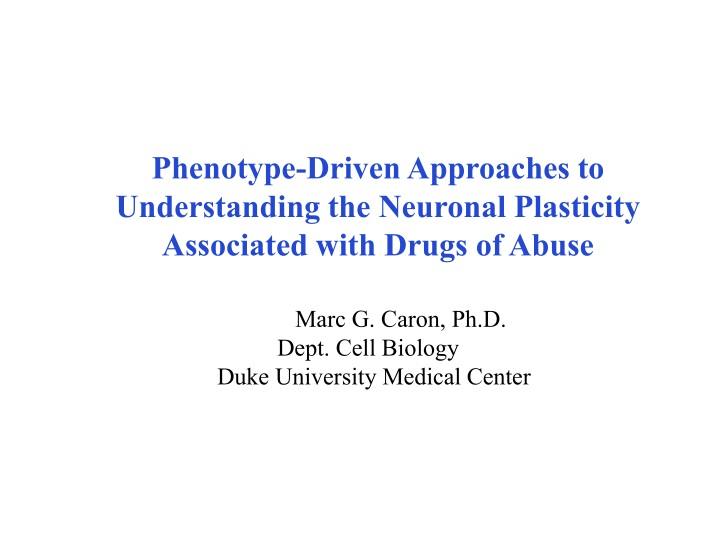 phenotype driven approaches to understanding n.