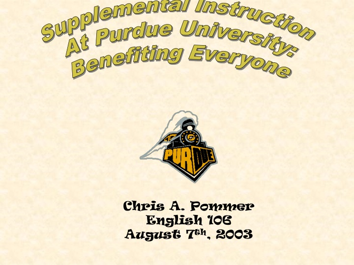 supplemental instruction at purdue university n.