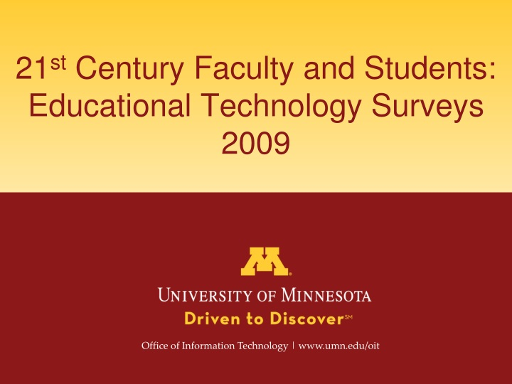 21 st century faculty and students educational technology surveys 2009 n.