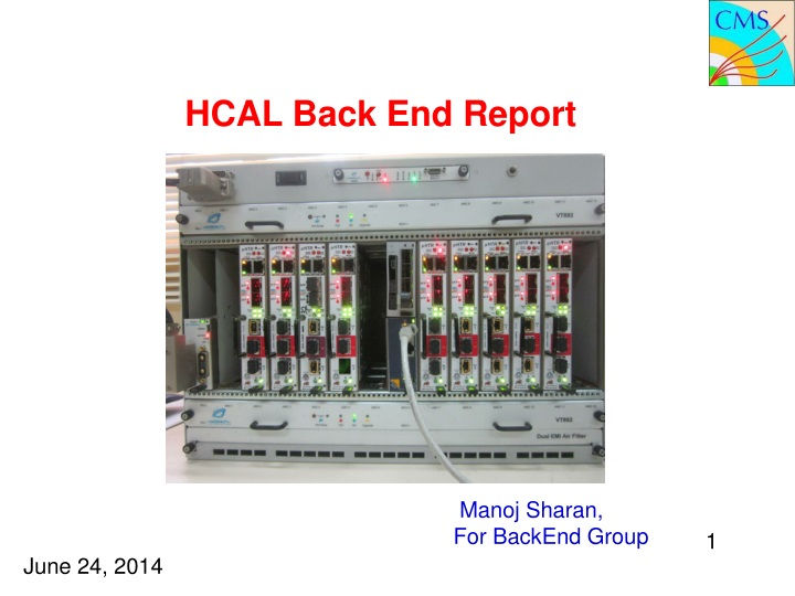hcal back end report n.