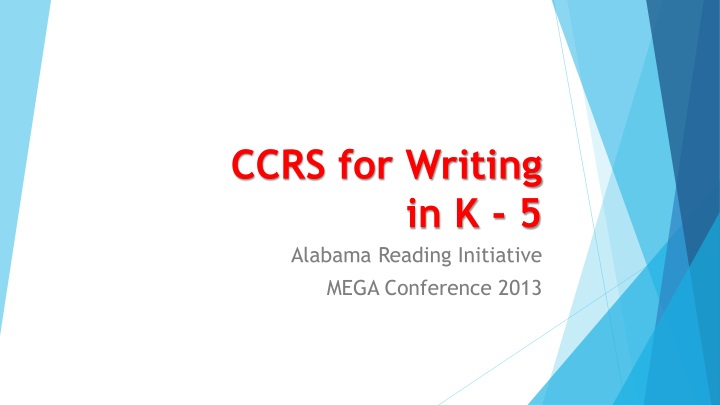 ccrs for writing in k 5 n.